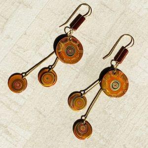 Jewelry - Fire Copper Metal Art Handmade Colorado Earrings
